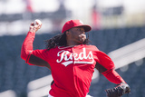 Feb 27, 2014, Cleveland Indians vs Cincinnati Reds - Johnny Cueto Photographic Print by Rob Tringali