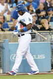 Jun 3, 2014, Chicago White Sox vs Los Angeles Dodgers - Yasiel Puig Photographic Print by Stephen Dunn