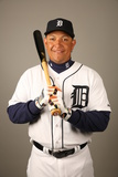 2014 Detroit Tigers Photo Day: Feb 23 - Miguel Cabrera Photographic Print by Robbie Rogers
