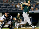Jun 3, 2014, Oakland Athletics vs New York Yankees - Brandon Moss, Brian McCann Photographic Print