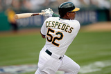 Feb 22, 2014, Cleveland Indians vs Oakland Athletics - Yoenis Cespedes Photographic Print by Thearon W. Henderson