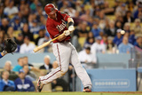 May 8, 2013, Arizona Diamondbacks vs Los Angeles Dodgers - Paul Goldschmidt Photographic Print by Stephen Dunn
