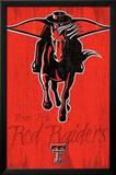 Texas Tech University Red Raiders Logo NCAA Poster