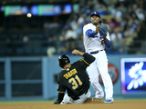 May 30, 2014, Pittsburgh Pirates vs Los Angeles Dodgers - Hanley Ramirez, Jose Tabata Photographic Print by Stephen Dunn
