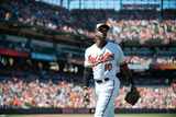 Aug 25, 2013, Oakland Athletics vs Baltimore Orioles - Adam Jones Photographic Print by Rob Tringali