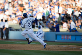 Apr 6, 2014, San Francisco Giants vs Los Angeles Dodgers - Adrian Gonzalez Photographic Print by Paul Spinelli