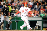Apr 8, 2014, Miami Marlins vs Washington Nationals - Adam LaRoche Photographic Print by Mitchell Layton