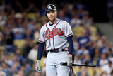 Oct 7, 2013, Atlanta Braves vs Los Angeles Dodgers - Freddie Freeman Photographic Print by Stephen Dunn