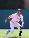 May 25, 2014, Texas Rangers vs Detroit Tigers - Ian Kinsler Photographic Print by Leon Halip