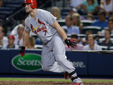 May 5, 2014, St Louis Cardinals vs Atlanta Braves - Matt Holliday Photographic Print by Mike Zarrilli