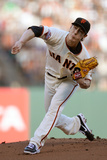 Jun 3, 2014, Pittsburgh Pirates vs San Francisco Giants - Tim Lincecum Photographic Print by Thearon W. Henderson