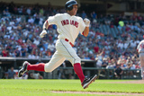Aug 11, 2013, Los Angeles Angels of Anaheim vs Cleveland Indians - Michael Brantley Photographic Print by Jason Miller