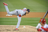 Apr 17, 2014, St. Louis Cardinals vs Washington Nationals - Adam Wainwright Photographic Print by Mitchell Layton