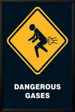 Dangerous Gases Warning Sign Art Poster Print Posters