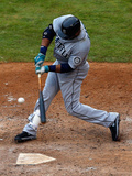 Apr 17, 2014, Seattle Mariners vs Texas Rangers - Robinson Cano Photographic Print by Tom Pennington