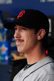 May 2, 2014, San Francisco Giants vs Atlanta Braves - Tim Lincecum Photographic Print by Scott Cunningham