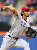 Jul 4, 2014, Texas Rangers vs New York Mets - Yu Darvish Photographic Print by Rich Schultz