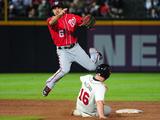 Aug 17, 2013, Washington Nationals vs Atlanta Braves - Brian McCann, Anthony Rendon Photographic Print by Scott Cunningham
