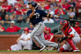 May 7, 2011, Milwaukee Brewers vs St. Louis Cardinals - Carlos Gomez Photographic Print by Dilip Vishwanat
