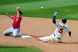 Apr 13, 2014, Washington Nationals vs Atlanta Braves - Freddie Freeman, Kevin Frandsen Photographic Print by Scott Cunningham