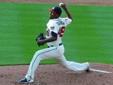May 25, 2014, Colorado Rockies vs Atlanta Braves - Julio Teheran Photographic Print by Scott Cunningham