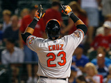 Jun 3, 2014, Baltimore Orioles vs Texas Rangers - Nelson Cruz Photographic Print by Tom Pennington