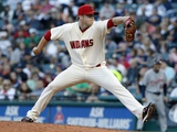 Sep 15, 2012, Detroit Tigers vs Cleveland Indians - Cody Allen Photographic Print by David Maxwell