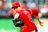 Sep 28, 2013, Los Angeles Angels of Anaheim vs Texas Rangers - Garrett Richards Photographic Print by Sarah Glenn