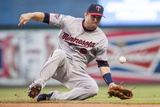 May 6, 2014, Minnesota Twins vs Cleveland Indians - Brian Dozier Photographic Print by Jason Miller