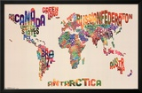 World Map - Text Posters