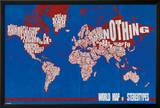 World Map of Stereotypes Prints