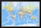 Weltkarte 2011, Englisch Kunstdrucke