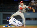 Apr 21, 2014, Philadelphia Phillies vs Los Angeles Dodgers - Chase Utley, Matt Kemp Photographic Print by Harry How