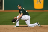 May 7, 2014, Seattle Mariners vs Oakland Athletics - Brandon Moss Photographic Print by Thearon W. Henderson