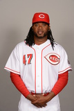 2014 Cincinnati Reds Photo Day: Feb 20 - Johnny Cueto Photographic Print by Robert Binder