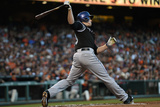 Jun 13, 2014, Colorado Rockies vs San Francisco Giants - Justin Morneau Photographic Print by Thearon W. Henderson