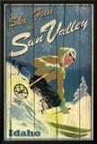 Ski Fun at Sun Valley Idaho Art Print Poster Poster