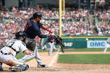 Sep 1, 2013, Cleveland Indians vs Detroit Tigers - Matt Aviles, Jose Ramirez, Michael Brantley Photographic Print by Leon Halip