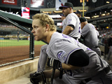 Apr 29, 2014, Colorado Rockies vs Arizona Diamondbacks - Justin Morneau Photographic Print by Christian Petersen