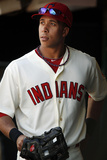 Sep 16, 2012, Detroit Tigers vs Cleveland Indians - Michael Brantley Photographic Print by David Maxwell