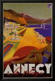 Annecy Sa Plage Poster von Robert Fallucci