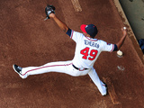 May 20, 2014, Milwaukee Brewers vs Atlanta Braves - Julio Teheran Photographic Print by Scott Cunningham