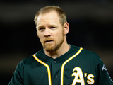 Apr 16, 2014, Oakland Athletics vs Los Angeles Angels of Anaheim - Brandon Moss Photographic Print by Harry How