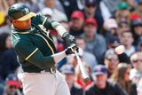 May 4, 2014, Oakland Athletics vs Boston Red Sox - Yoenis Cespedes Photographic Print by Jim Rogash