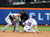 May 28, 2014, Pittsburgh Pirates vs New York Mets - Daniel Murphy, Jordy Mercer Photographic Print