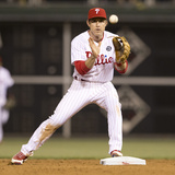 May 13, 2014, Los Angeles Angels of Anaheim vs Philadelphia Phillies - Chase Utley Photographic Print by Mitchell Leff