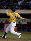 Sep 17, 2013, Los Angeles Angels of Anaheim vs Oakland Athletics - Brandon Moss Photographic Print by Thearon W. Henderson