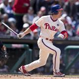 Apr 17, 2014, Atlanta Braves vs Philadelphia Phillies - Chase Utley Photographic Print by Mitchell Leff