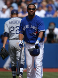 Jul 21, 2013, Tampa Bay Rays vs Toronto Blue Jays - Edwin Encarnacion, Chris Archer Photographic Print by Tom Szczerbowski