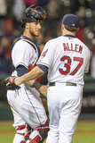 May 2, 2014, Chicago White Sox  vs Cleveland Indians - Yan Gomes, Cody Allen Photographic Print by Jason Miller